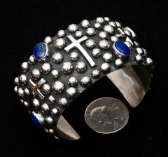 Sterling cuff with nighttime sky design by Chimney Butte.