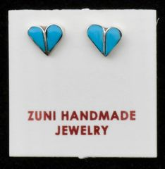 Sterling and turquoise hearts from the Zuni Pueblo—available as an addition to any order.