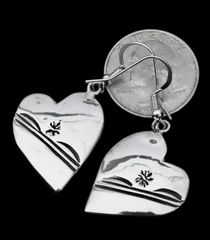 Sterling Navajo heart earrings.