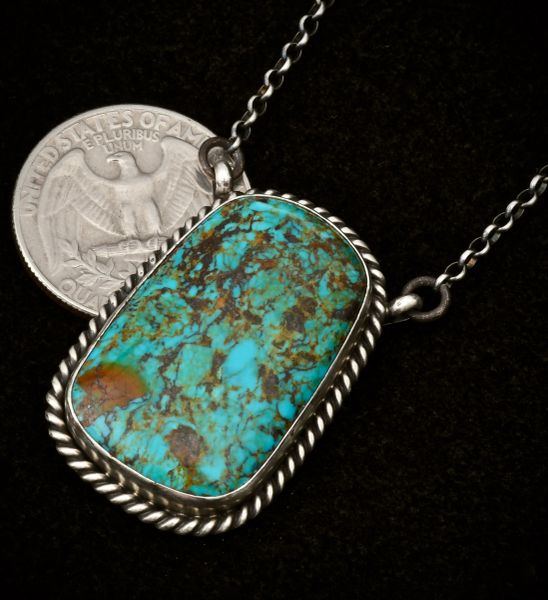 Sterling Navajo elongated bar necklace.