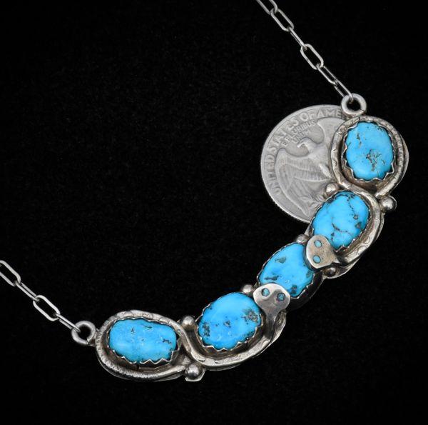 "The original ""bar"" necklace by Effie C., Zuni."