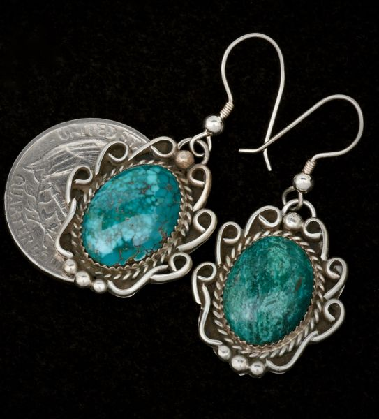 Navajo dead-pawn earrings. #1475