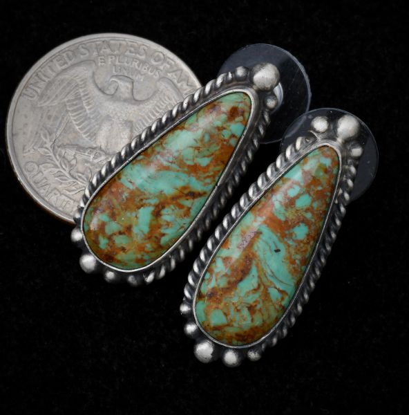 Elouise Kee Navajo earrings with Royston turquoise.--SOLD!