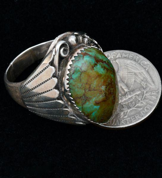 Older Navajo size 13+ Royston turquoise ring. #1632
