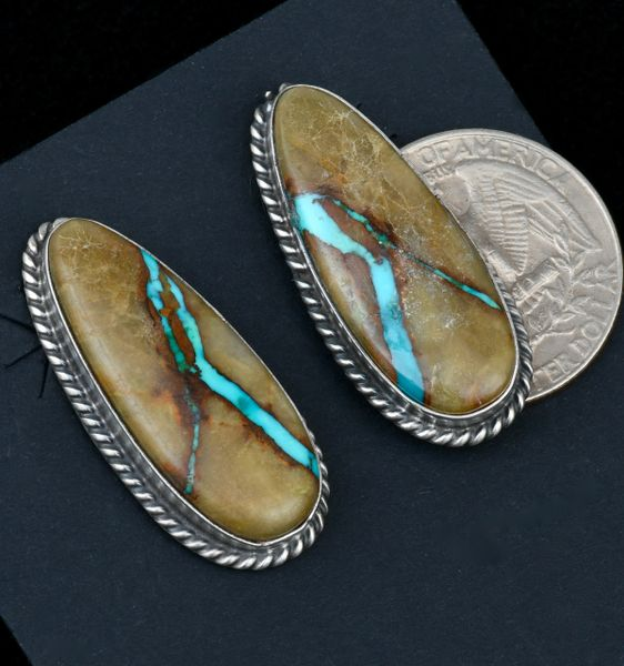 Navajo ribbon turquoise earrings by Elouise Kee. SOLD! #1639