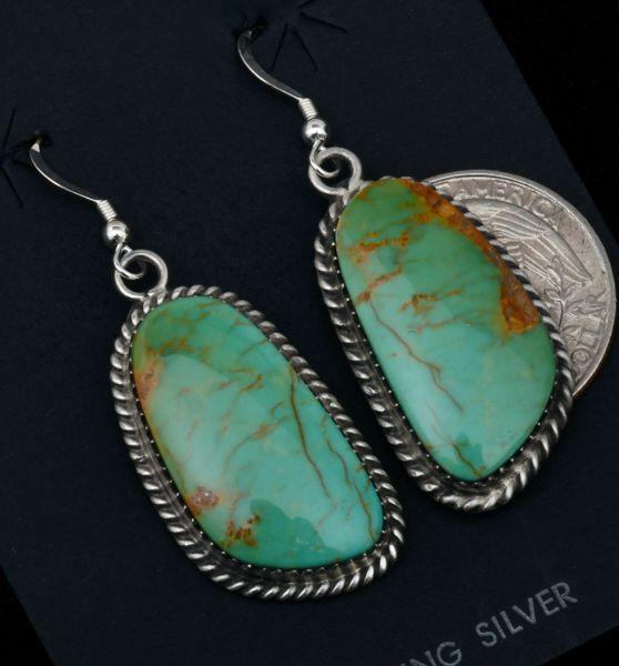Elouise Kee Royston turquoise Navajo earrings. #1722