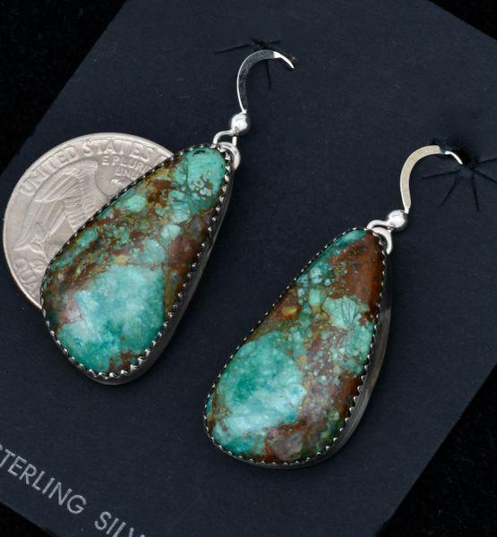 Elouise Kee turquoise Navajo earrings. #1731