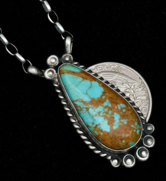 Robert Shakey' colorful Navajo bar-like pendant necklace. #1740