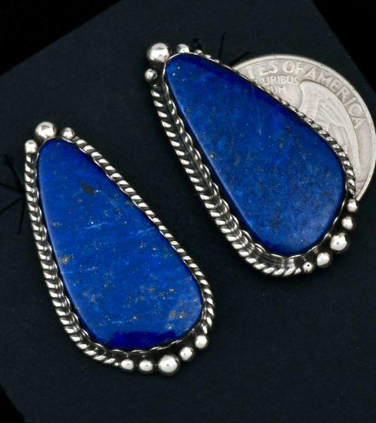 Navajo lapis earrings by Elouise Kee.