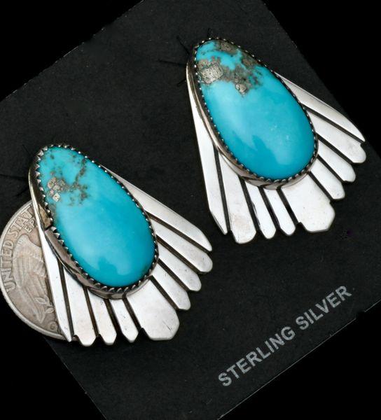 Julius Draper artistic Navajo earrings. #1794