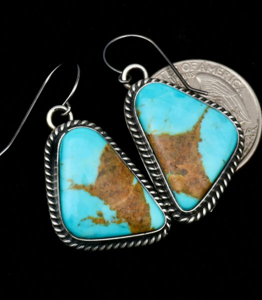 Donovan Skeets' near-match Kingman turquoise earrings. #1807