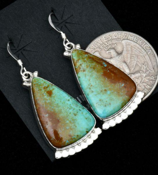 Verley Betone Navajo Kingman turquoise earrings. #1814