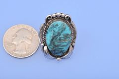 Dead-pawn navajo turquoise ring.