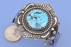 Knockout Navajo cuff by Leon Martinez.