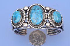 Navajo triplet cuff by Leon Martinez.