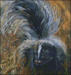 On Guard Striped Skunk