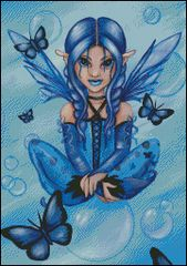 Blue Fairy with Bubbles