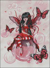 Crimson Fairy with Bubbles