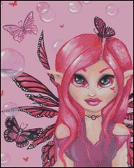 Pink Fairy with Bubbles
