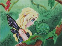 Fairy with Turtle Friend