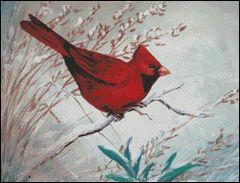 Winter Red Bird