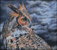 Great Horned Owl Storm