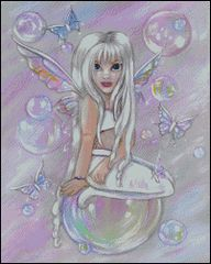 White Fairy with Bubbles