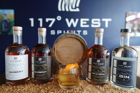 117 West Spirits line up with local west coast inspired flavors. Fresh cocktails are served too.