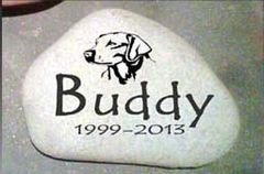 Stone Memorials for Pets and other EXAMPLES