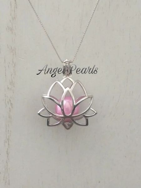 Ss Edison Lotus Flower Cage Angel Pearls