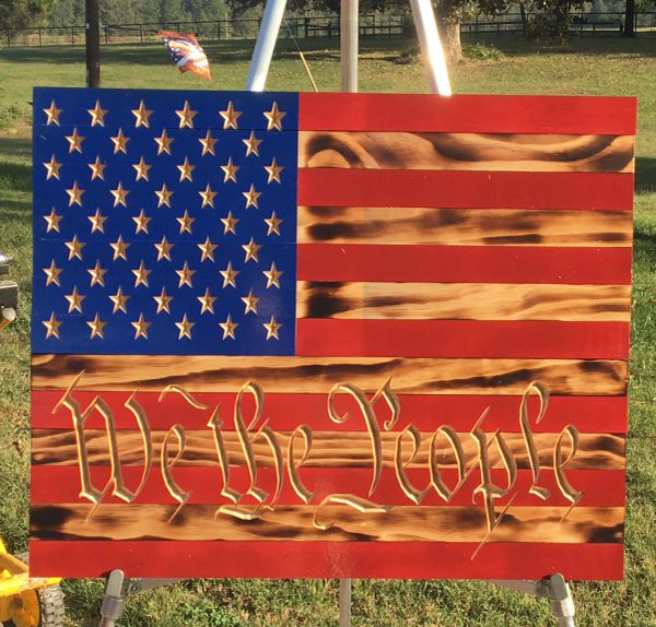 We The People American Flag 24""