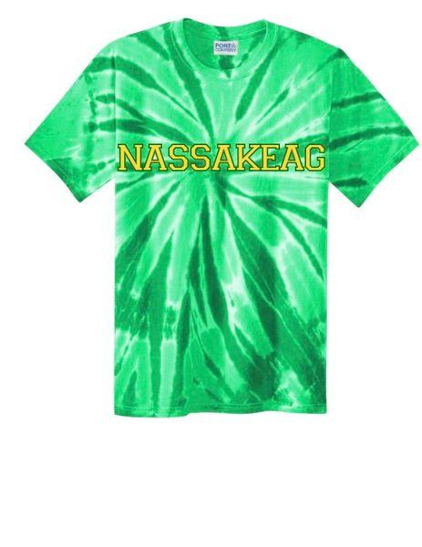 Tie-Dye Crew Neck T-Shirt: KELLY GREEN