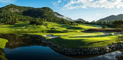 Views of amazing Black Mountain golf course. Golf Sea City guest house Hua Hin is 12 kilometers away