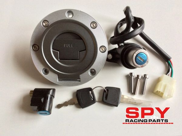 Spy 250F1-350 F1-A, Locking Fuel Cap With Ignition, Steering Lock with 2 Keys