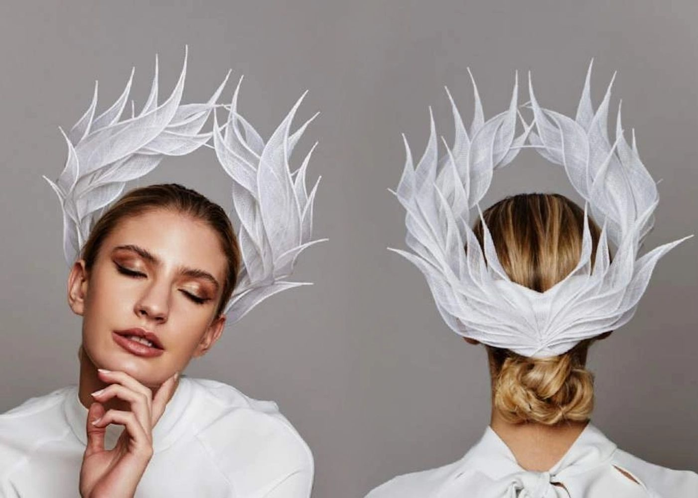 Lisa Tan SS20 millinery collection Angel headpiece