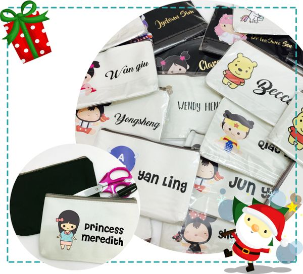 Personalised Pouch (with Cartoon) (Bundle of 10 pcs)