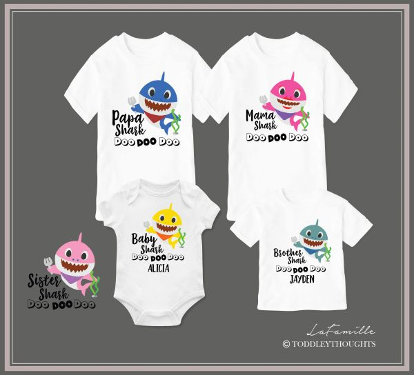 dffeb60d Baby Shark Doo Doo Family T-shirt | Toddley thoughts - Personalized Family T -shirts & Baby Onesies