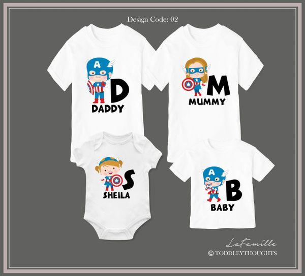 2019 Captain Family (3 designs)