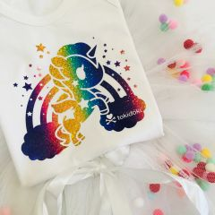 *Exclusive*Tokidoki Cosmo: Rainbow Unicorn White Romper