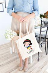 [Customise] X'mas Snow White Tote Bag