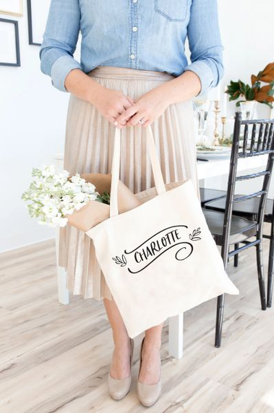 [Customise] Winter Scroll Tote Bag