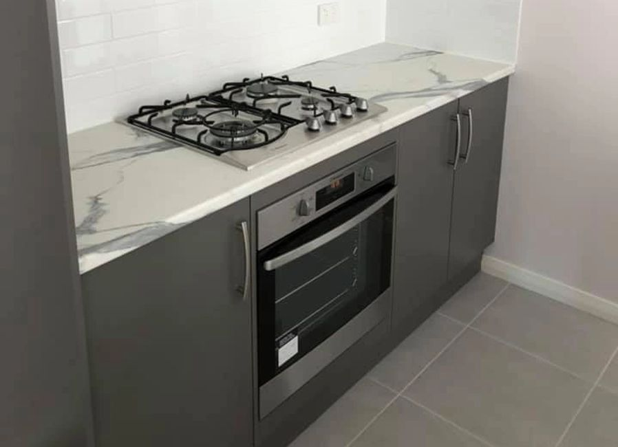 polytec laminate benchtop kitchen oven surface calacutta matt matera 10/10 roll edge laminex