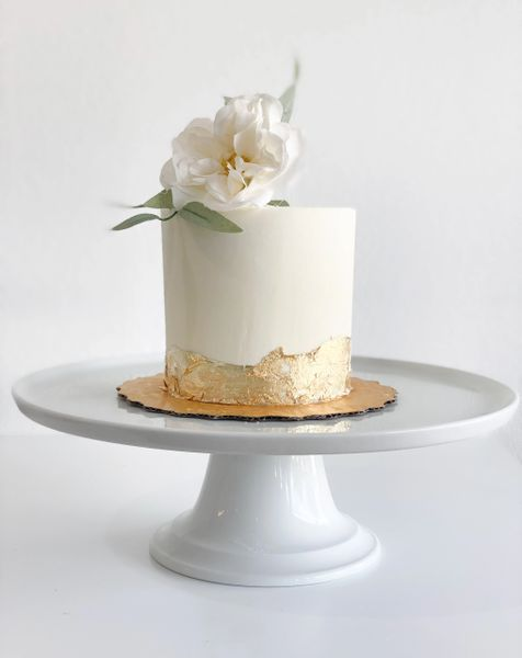 Intimate Wedding Cake Single Tier Blooms Not Included