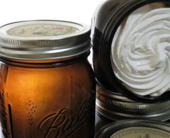 Whipped Tallow in Amber Glass / Pint Jar Size