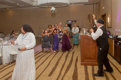 Bouquet toss.  Tony G Tucson DJ entertained at this event.