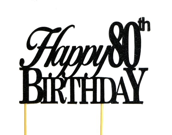 Amazing All About Details Black Happy 80Th Birthday Cake Topper All Funny Birthday Cards Online Aboleapandamsfinfo