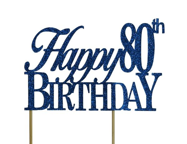Brilliant Happy 80Th Birthday Cake Topper All About Details Funny Birthday Cards Online Aboleapandamsfinfo