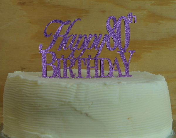 Pleasing Happy 80Th Birthday Cake Topper All About Details Funny Birthday Cards Online Aboleapandamsfinfo