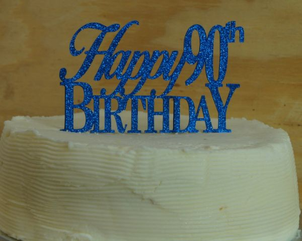 Outstanding Happy 90Th Birthday Cake Topper All About Details Personalised Birthday Cards Veneteletsinfo