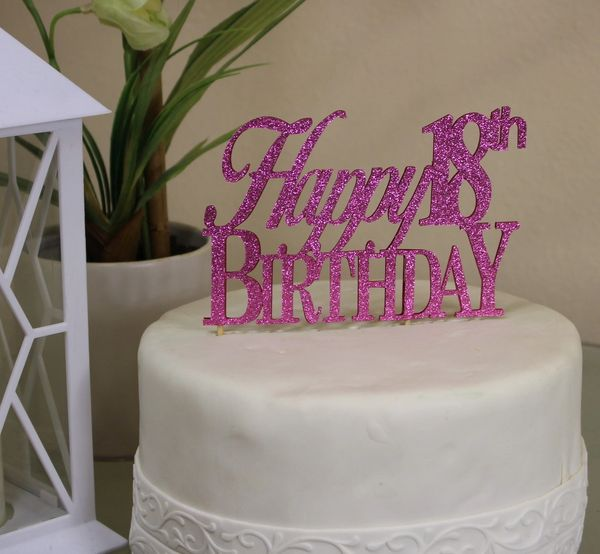 Prime All About Details Pink Happy 18Th Birthday Cake Topper All About Funny Birthday Cards Online Fluifree Goldxyz